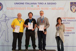 Podio Carabina Libera a Terra Uomini Gruppo A - Bottazzi  P. argento