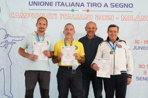 Podio Pistola Sportiva Master Uomini - Campione Italiano Farris R.
